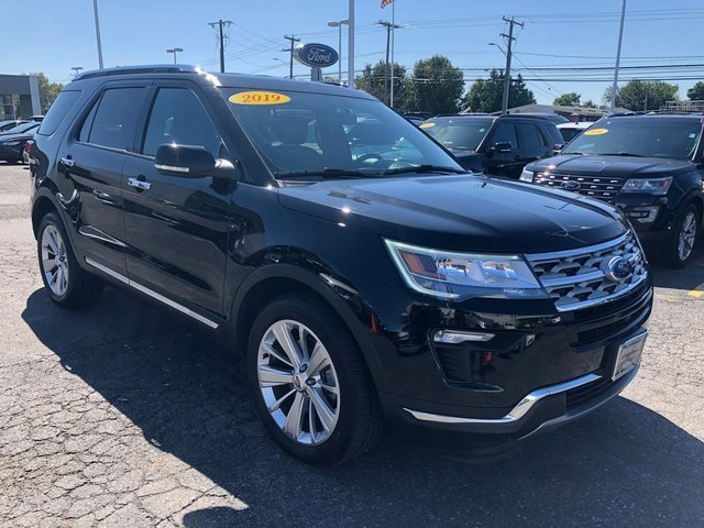 2019 Agate Black Metallic Ford Explorer Limited 4X4 4 Door SUV Automatic