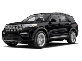 2020 Agate Black Metallic Ford Explorer Platinum V6 Engine 4 Door Automatic
