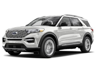 2020 Star White Metallic Tri-Coat Ford Explorer Limited SUV 4 Door Automatic EcoBoost 2.3L I4 GTDi DOHC Turbocharged VCT Engine