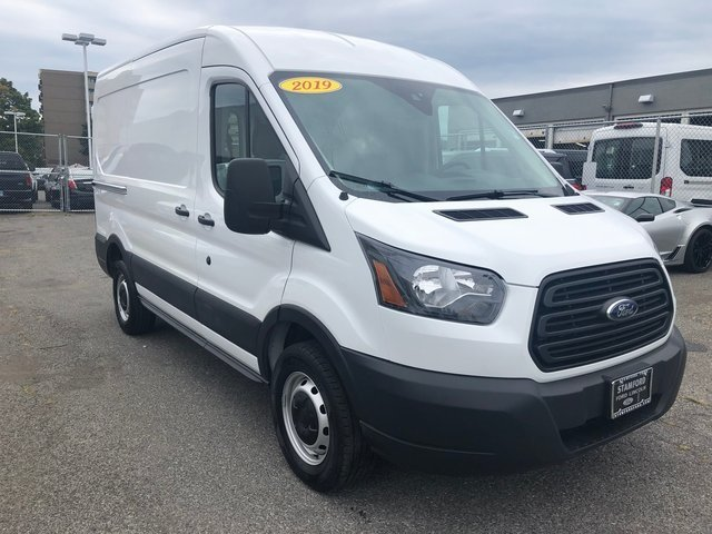 "2019 Oxford White Ford Transit-250 MR 130"" Van 3 Door Automatic"