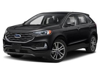 2019 Agate Black Metallic Ford Edge Titanium EcoBoost 2.0L I4 GTDi DOHC Turbocharged VCT Engine 4 Door SUV Automatic AWD