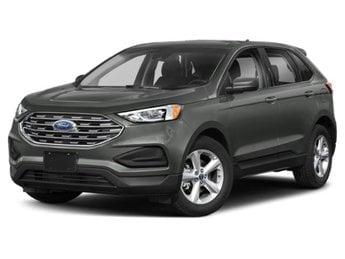 2019 Magnetic Metallic Ford Edge Titanium 2.0L Engine 4 Door SUV