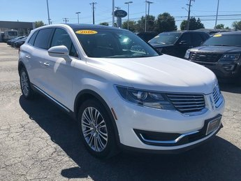 2016 White Platinum Metallic Tri-Coat Lincoln MKX Reserve 3.7L V6 Ti-VCT Engine AWD 4 Door SUV Automatic