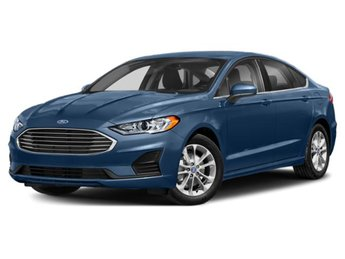 2019 Blue Metallic Ford Fusion SE EcoBoost 1.5L I4 GTDi DOHC Turbocharged VCT Engine 4 Door Sedan FWD