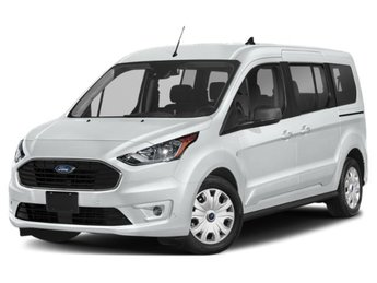 2019 Frozen White Ford Transit Connect XLT Van 4 Door I4 Engine