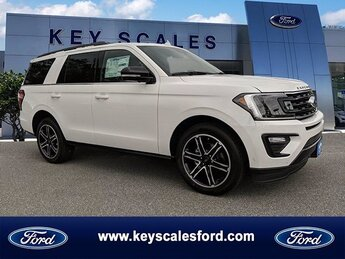 2020 Star White Metallic Tri-Coat Ford Expedition Limited EcoBoost 3.5L V6 GTDi DOHC 24V Twin Turbocharged Engine Automatic 4 Door SUV