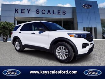 2021 Oxford White Ford Explorer Base SUV Automatic 4 Door RWD