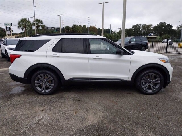 2021 White Ford Explorer XLT RWD Automatic SUV 4 Door EcoBoost 2.3L I4 GTDi DOHC Turbocharged VCT Engine