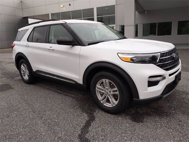2021 Oxford White Ford Explorer XLT RWD 4 Door SUV Automatic EcoBoost 2.3L I4 GTDi DOHC Turbocharged VCT Engine