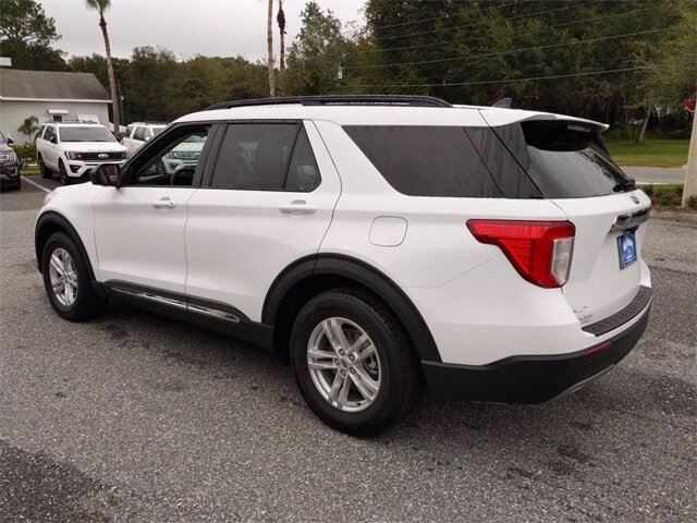 2021 Oxford White Ford Explorer XLT 4 Door Automatic RWD EcoBoost 2.3L I4 GTDi DOHC Turbocharged VCT Engine
