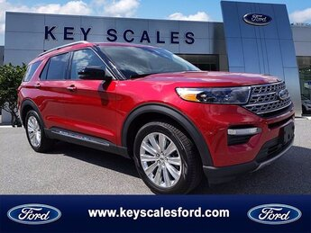 2020 Rapid Red Metallic Tinted Clearcoat Ford Explorer Limited 4 Door FWD EcoBoost 2.3L I4 GTDi DOHC Turbocharged VCT Engine