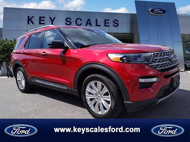 2020 Rapid Red Metallic Tinted Clearcoat Ford Explorer Limited FWD SUV Automatic 4 Door