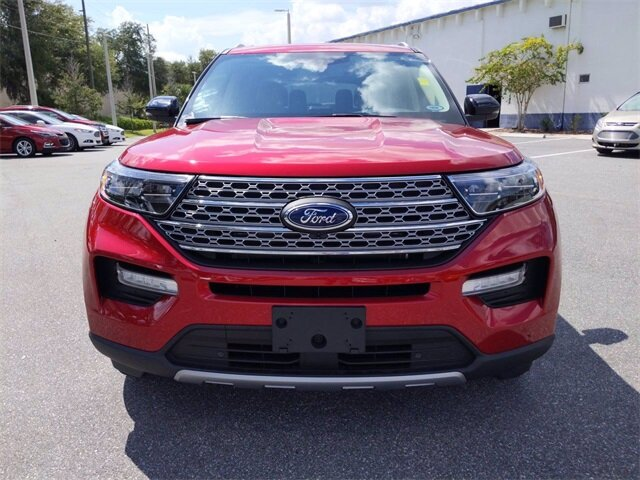 2020 Rapid Red Metallic Tinted Clearcoat Ford Explorer Limited SUV EcoBoost 2.3L I4 GTDi DOHC Turbocharged VCT Engine Automatic FWD 4 Door