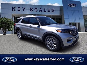 2020 Iconic Silver Metallic Ford Explorer Limited Automatic 4 Door SUV RWD