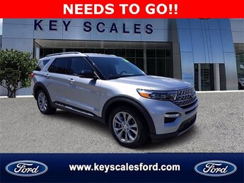 2020 Iconic Silver Metallic Ford Explorer Limited Automatic EcoBoost 2.3L I4 GTDi DOHC Turbocharged VCT Engine 4 Door RWD