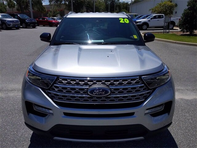 2020 Iconic Silver Metallic Ford Explorer Limited RWD EcoBoost 2.3L I4 GTDi DOHC Turbocharged VCT Engine Automatic