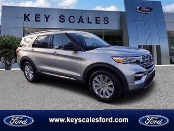 2021 Iconic Silver Metallic Ford Explorer Limited 4 Door Automatic SUV EcoBoost 2.3L I4 GTDi DOHC Turbocharged VCT Engine