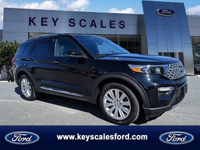 2020 Agate Black Metallic Ford Explorer Limited EcoBoost 2.3L I4 GTDi DOHC Turbocharged VCT Engine Automatic FWD SUV 4 Door