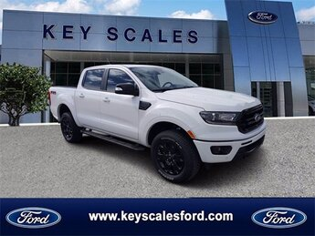 2020 Oxford White Ford Ranger LARIAT 4 Door EcoBoost 2.3L I4 GTDi DOHC Turbocharged VCT Engine Truck