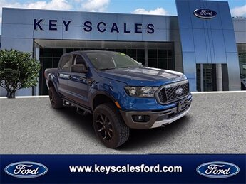 2020 Lightning Blue Metallic Ford Ranger XLT Truck EcoBoost 2.3L I4 GTDi DOHC Turbocharged VCT Engine 4 Door