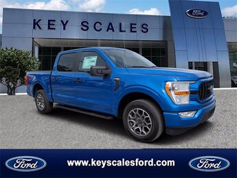 2021 Blue Ford F-150 XL 2.7L V6 EcoBoost Engine Automatic Truck