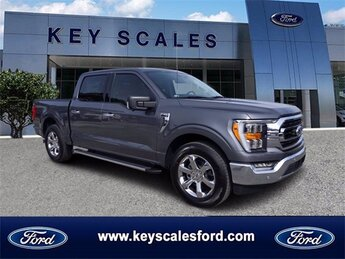 2021 Gray Ford F-150 XLT 2.7L V6 EcoBoost Engine Automatic Truck RWD 4 Door