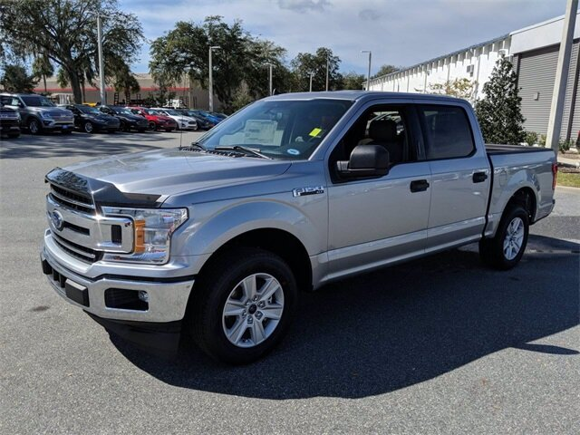 2020 Iconic Silver Metallic Ford F-150 XLT 4 Door 2.7L V6 EcoBoost Engine RWD Automatic Truck