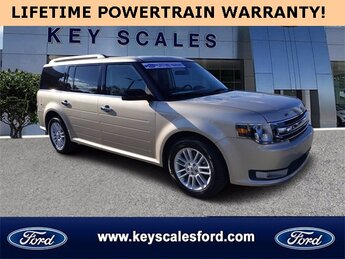 2017 White Gold Metallic Ford Flex SEL Automatic FWD SUV 4 Door 3.5L V6 Ti-VCT Engine