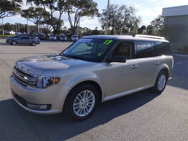 2017 White Gold Metallic Ford Flex SEL SUV 3.5L V6 Ti-VCT Engine FWD