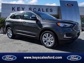 2020 Magnetic Metallic Ford Edge Titanium 4 Door Automatic SUV