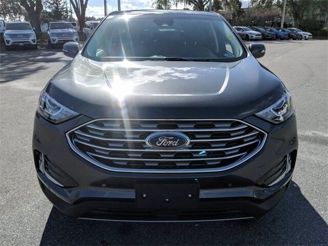 2020 Magnetic Metallic Ford Edge Titanium Automatic SUV EcoBoost 2.0L I4 GTDi DOHC Turbocharged VCT Engine