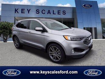 2020 Iconic Silver Metallic Ford Edge Titanium FWD Automatic 4 Door