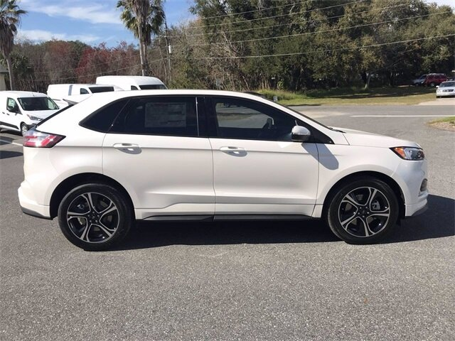 2019 White Platinum Metallic Tri-Coat Ford Edge ST 4 Door SUV Twin Turbo Premium Unleaded V-6 2.7 L/166 Engine