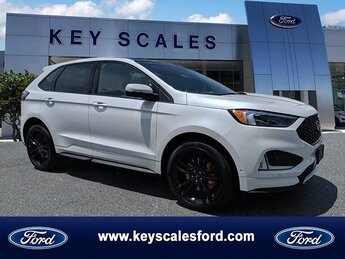 2019 White Platinum Metallic Tri-Coat Ford Edge ST Automatic SUV AWD 2.7L V6 Engine 4 Door