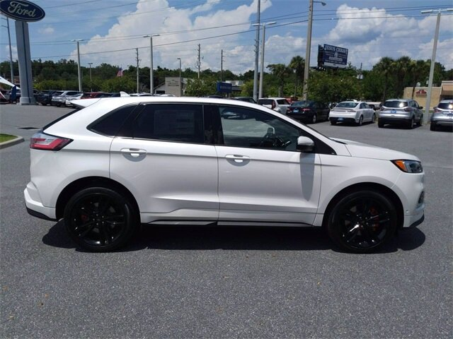 2019 White Platinum Metallic Tri-Coat Ford Edge ST Automatic 2.7L V6 Engine AWD