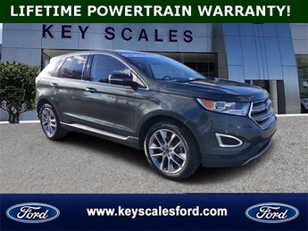 2015 Guard Metallic Ford Edge Titanium 3.5L V6 Ti-VCT Engine Automatic 4 Door SUV