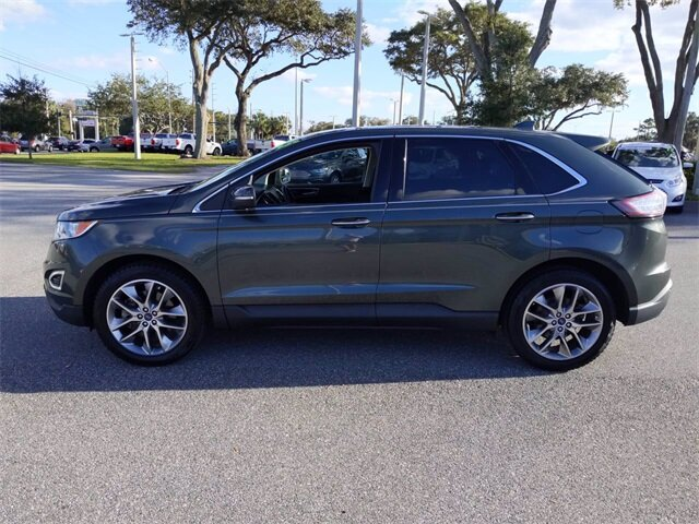 2015 Guard Metallic Ford Edge Titanium Automatic 3.5L V6 Ti-VCT Engine FWD SUV