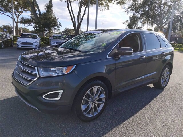 2015 Guard Metallic Ford Edge Titanium SUV Automatic FWD