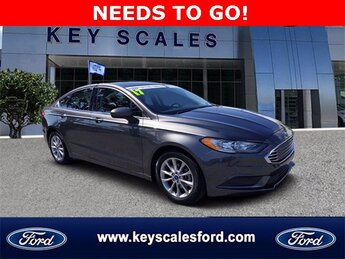 2017 Magnetic Ford Fusion SE FWD 4 Door Sedan 2.5L iVCT Engine
