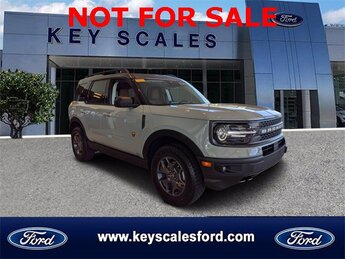 2021 Cactus Gray Ford Bronco Sport Badlands 4 Door EcoBoost 2.0L I4 GTDi DOHC Turbocharged VCT Engine SUV 4X4