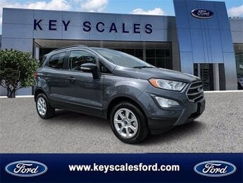 2020 Smoke Metallic Ford EcoSport SE FWD EcoBoost 1.0L I3 GTDi DOHC Turbocharged VCT Engine 4 Door SUV Automatic