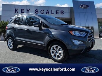 2020 Smoke Metallic Ford EcoSport SE SUV FWD Automatic EcoBoost 1.0L I3 GTDi DOHC Turbocharged VCT Engine 4 Door