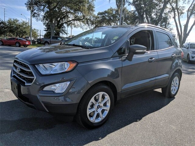 2020 Smoke Metallic Ford EcoSport SE FWD Automatic EcoBoost 1.0L I3 GTDi DOHC Turbocharged VCT Engine