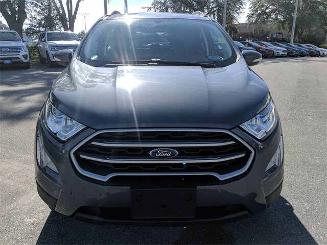 2020 Smoke Metallic Ford EcoSport SE 4 Door SUV EcoBoost 1.0L I3 GTDi DOHC Turbocharged VCT Engine Automatic FWD