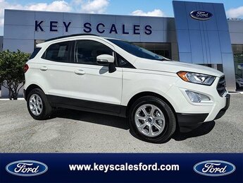 2020 Diamond White Ford EcoSport SE EcoBoost 1.0L I3 GTDi DOHC Turbocharged VCT Engine Automatic FWD 4 Door SUV
