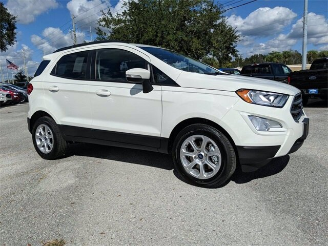 2020 Diamond White Ford EcoSport SE SUV Automatic FWD 4 Door EcoBoost 1.0L I3 GTDi DOHC Turbocharged VCT Engine