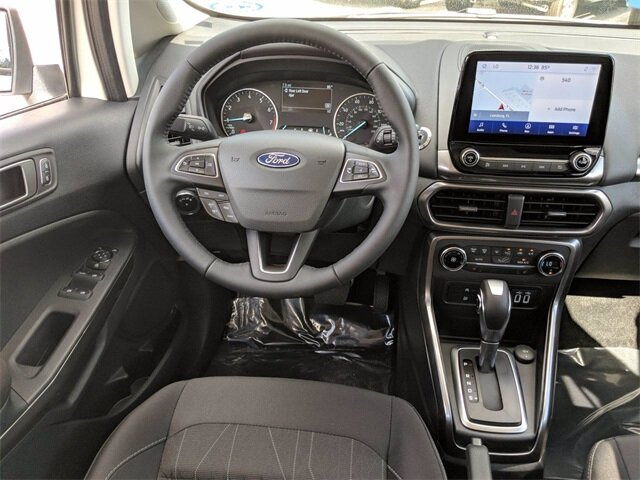 2020 Diamond White Ford EcoSport SE Automatic EcoBoost 1.0L I3 GTDi DOHC Turbocharged VCT Engine SUV 4 Door FWD