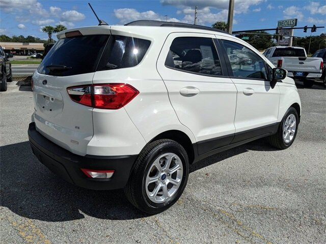 2020 Diamond White Ford EcoSport SE FWD EcoBoost 1.0L I3 GTDi DOHC Turbocharged VCT Engine 4 Door SUV Automatic