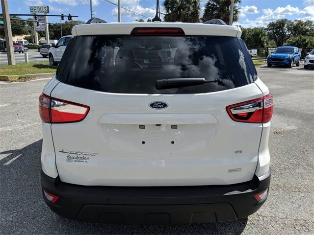 2020 Diamond White Ford EcoSport SE 4 Door FWD EcoBoost 1.0L I3 GTDi DOHC Turbocharged VCT Engine SUV