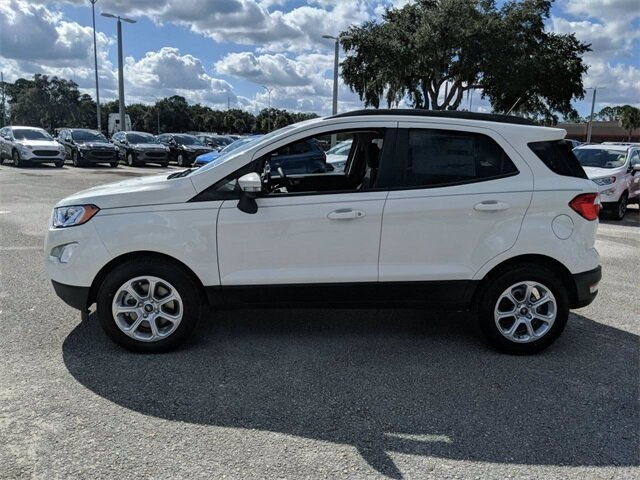 2020 Diamond White Ford EcoSport SE Automatic 4 Door SUV FWD EcoBoost 1.0L I3 GTDi DOHC Turbocharged VCT Engine